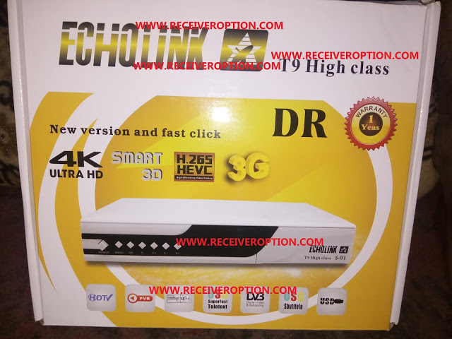 ECHQLINK T9 HIGH CLASS HD RECEIVER POWERVU KEY NEW SOFTWARE BY SUNPLUS LOADER