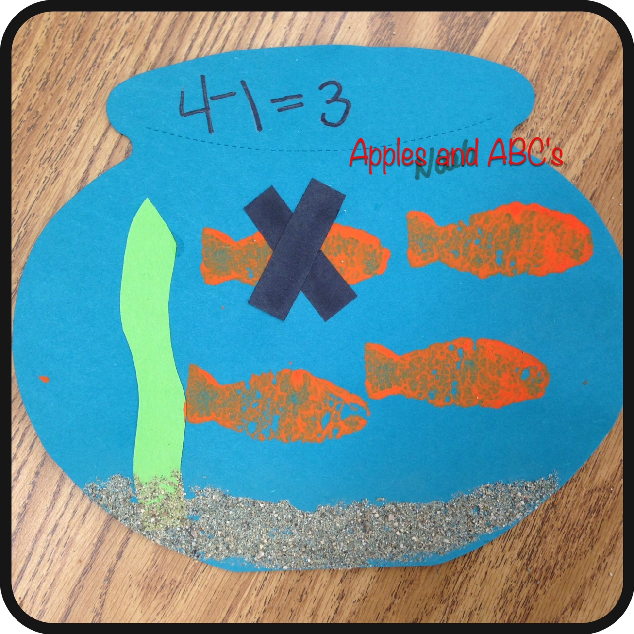 hight resolution of Fishy Subtraction - Apples and ABC's