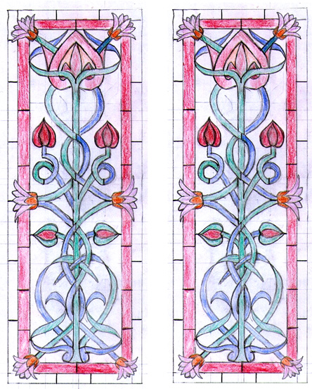 I Recently Finished This Pair Of Art Nouveau Style Door Panels Which Were Designed By The Client A Historic Buildings Archaeologist
