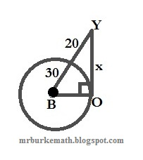 (x, why?): Problem: Pythagorean Theorem and Tangent-Secant