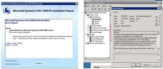 Saurav Dhyani - NAV & MSDYN365BC: Error After Installation