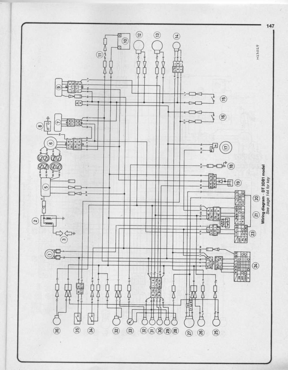 Yamaha Xt 350 Wiring Diagram Auto Electrical Dt 125 X
