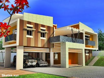 Desain rumah mewah minimalis bertingkat
