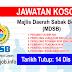 Job Vacancy at Majlis Daerah Sabak Bernam (MDSB)