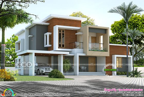 3116 sq-ft 4 bedroom box type contemporary house plan