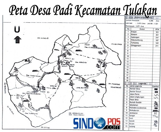 Profil Desa & Kelurahan, Desa Padi Kecamatan Tulakan Kabupaten Pacitan
