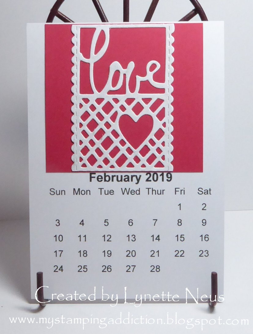 Calendar Page Image February 1 2019 My Stamping Addiction: February Calendar Page