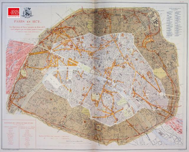 Paris haussmannien en 1871, Opérations de voieries exécutées de 1854 à 1871 © Roger-Viollet