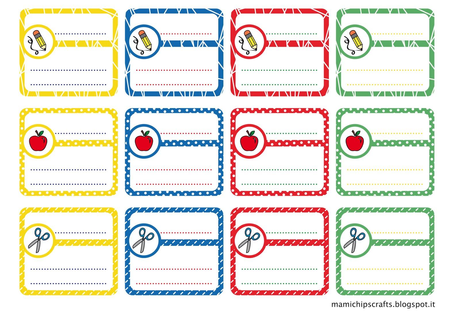 Eccezionale mami chips & crafts: Etichette per la scuola personalizzate SG46