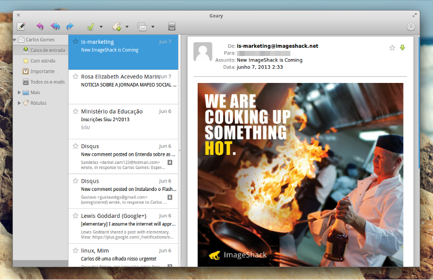 Nova versão do cliente de email Geary chega ao Elementary OS