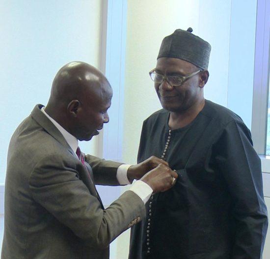 Magu with Gwadade, President of BDC Operators.