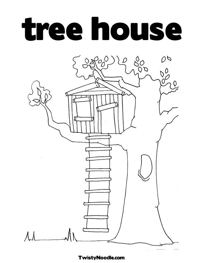 Desenhos De Casa Na Arvore Para Colorir