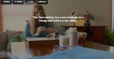 wool fiber artist