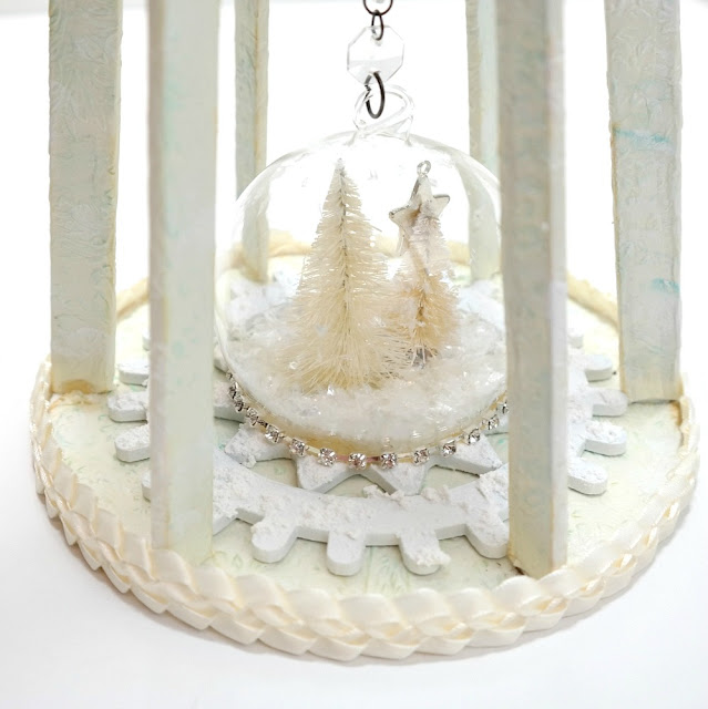 Snow Globe Cage Doll Base Closeup by Dana Tatar
