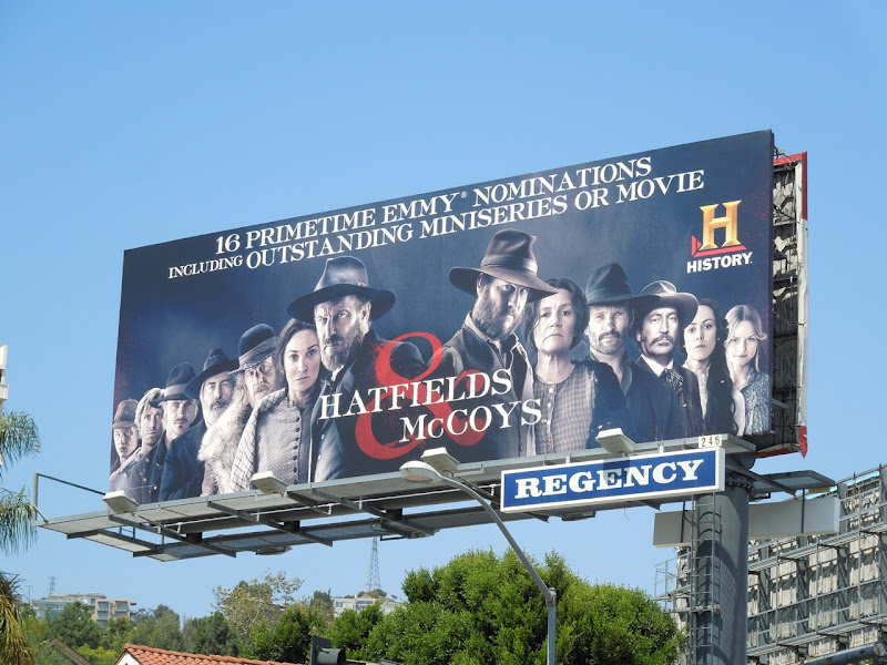 Hatfields McCoys Emmy Nomination billboard