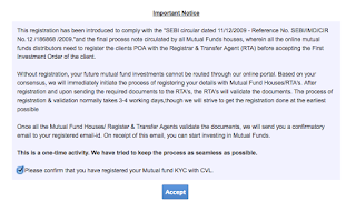 notice to register POA first with R&TAs of mutula funds