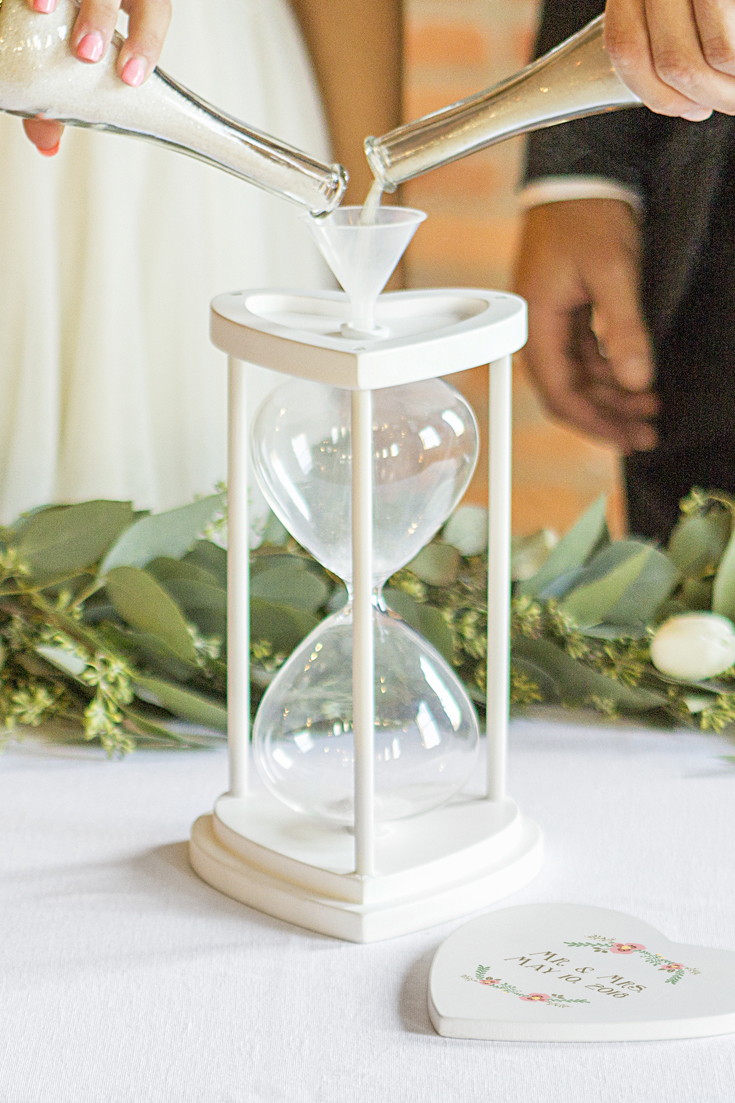 Sand Ceremony Hourglass Vase