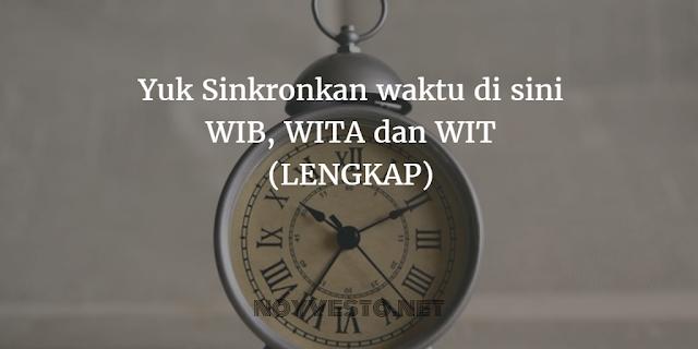 Waktu sekarang (WIB, WITA, WIT)