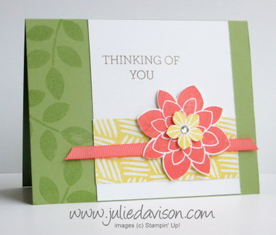 2015 Occasions Catalog Sneak Peek: Crazy About You Card  #stampinup www.juliedavison.com