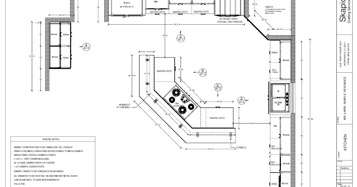 Skapio Design & Drafting: Millwork Shop Drawings