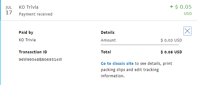 ko trivia paypal payment proof