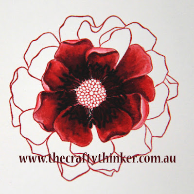 SU, Blended Bloom, Sunburst thinlits die, vellum, handcrafted card, watercolouring