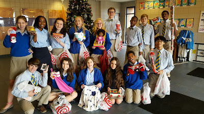 Montgomery Catholic Middle School Students Start Advent in Service 1