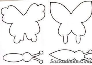 Evadan kelebek yapımı nasıl yapılır
