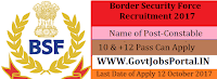Border Security Force Recruitment 2018– 1074 Constable