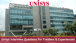 Unisys Interview Questions