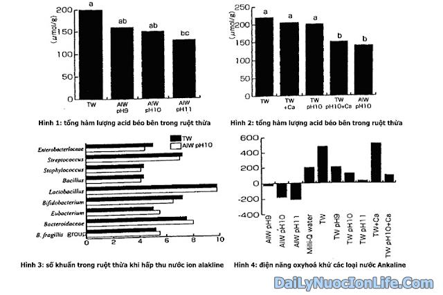 Nước ion alkaline đối với sự lên men ruột