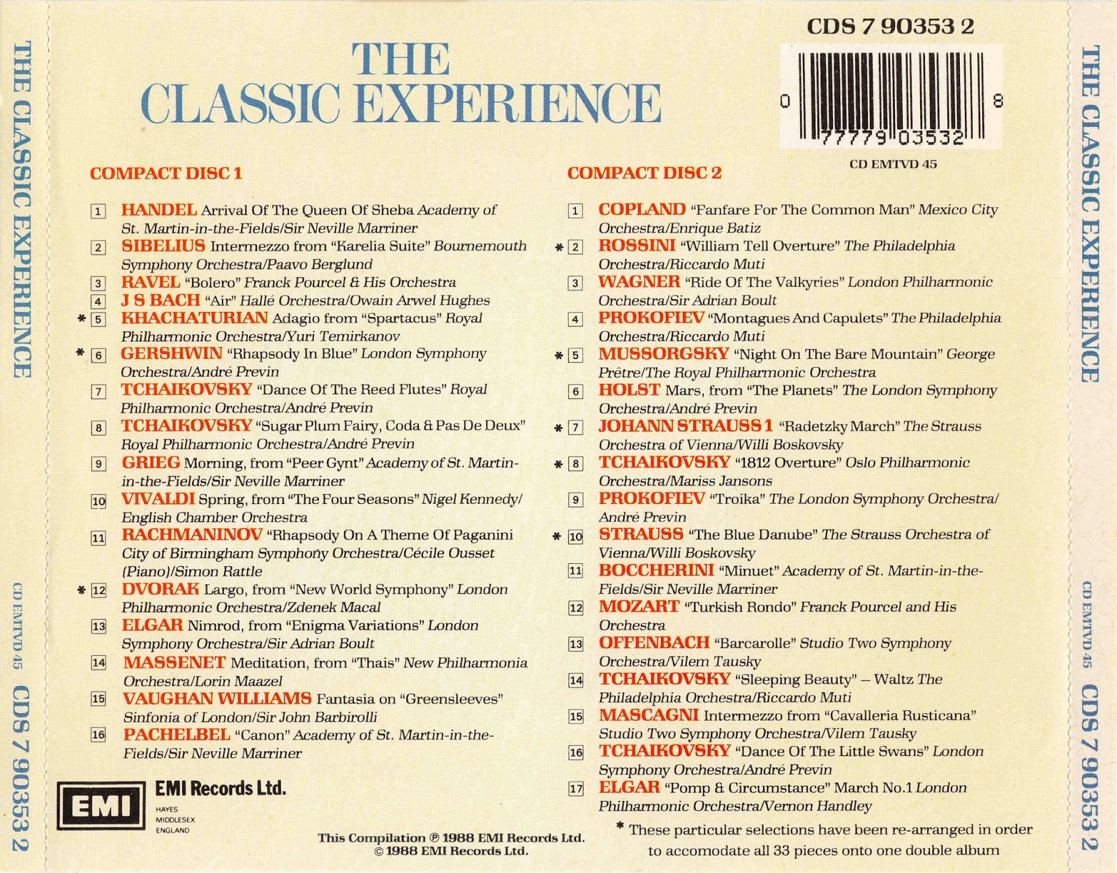 Music Of My Soul: V.A.-1988-The Classic Experience-The 33 Most ...