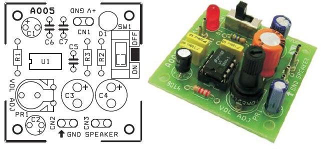 دائرة لتكبير الصوت باستخدم lm386