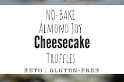 NO-BAKE ALMOND JOY CHEESECAKE TRUFFLES