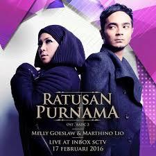 Chord lirik Lagu Melly Goeslaw feat Marthino Lio - Ratusan Purnama