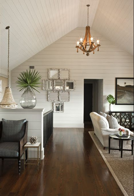 sullivans island house beach decor interior design south carolina shell chandelier