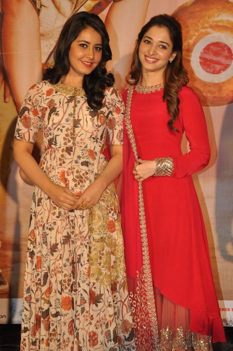 Rashi Khanna Stills At Bengal Tiger Movie Promotion