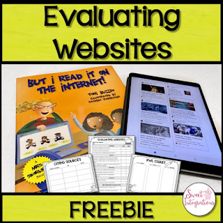 Grab this FREE download to help your upper elementary 3rd, 4th, or 5th grade students be better equipped to evaluate websites. This FREEBIE is great for upper elementary students and teachers who want their kids to be able to read through web sites thoughtfully.