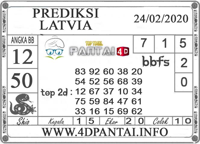 PREDIKSI TOGEL LATVIA PANTAI4D 24 FEBRUARI 2020