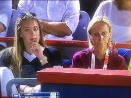 Penny Oleksiak Watching The Match Between Denis And Nadal