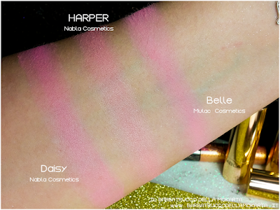 HARPER  comparazioni Blush Blossom   goldust collection Nabla cosmetics