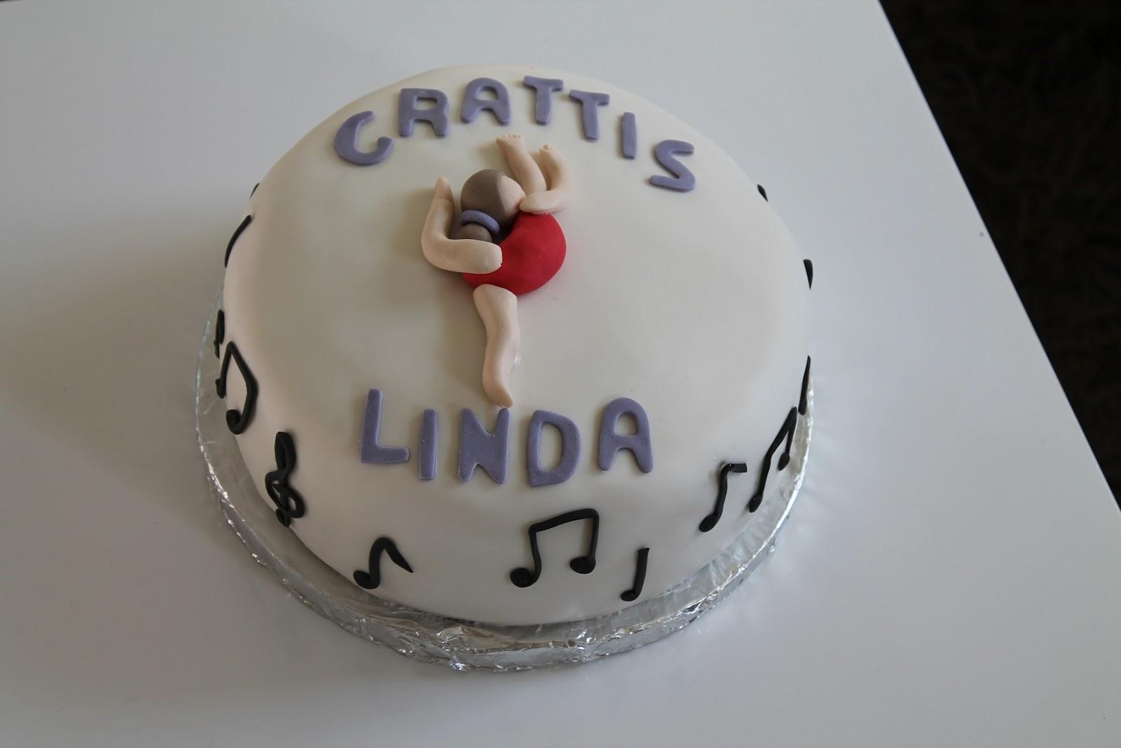 grattis linda Ingrediensen är tur!: Gymnastiktårta till Linda! grattis linda