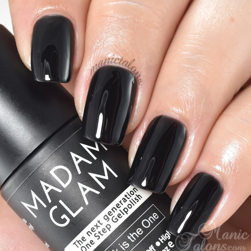 Madam Glam Gel Polish Black is the One Swatch
