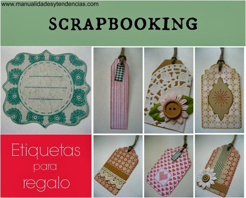 Etiquetas para regalos de Navidad de scrapbooking / Scrapbooking tags for Christmas gifts / Etiquettes pour les cadeaux de Noël