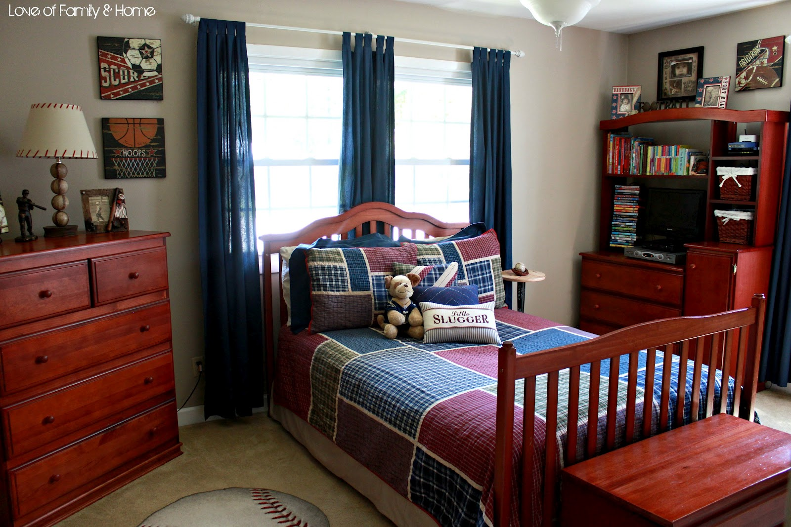 Inspiration for Parker's Baseball Bedroom - Love of Family ... on Teenage Boy Room  id=83068