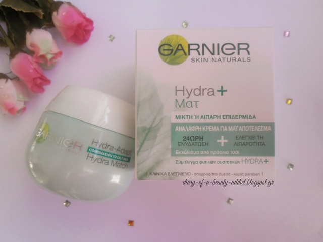 Garnier Hydra Match 24h Moisturizing Cream with Matte Effect : Review