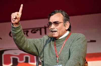 Mishra addresses the public meeting in Siliguri