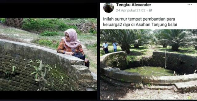 Sumur tua di Sei Dadap Asahan yang diduga sebagai lokasi pemakaman massal keluarga Kesultanan Asahan.