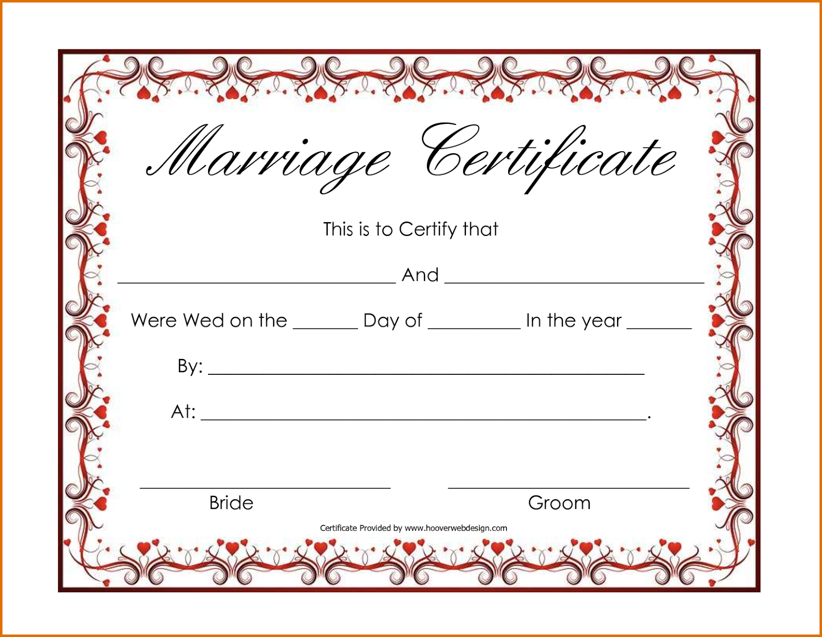 Marriage certificate printable template apa templates marriage certificate printable template 1betcityfo Image collections