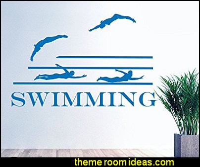 Sport Swimmer Swimming Pool Competitions Wall Decal